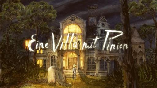 Eine Villa mit Pinien