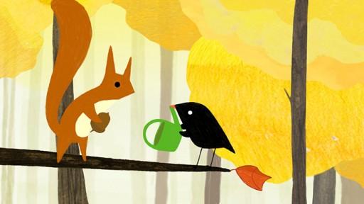 Der kleine Vogel und das Eichhörnchen
