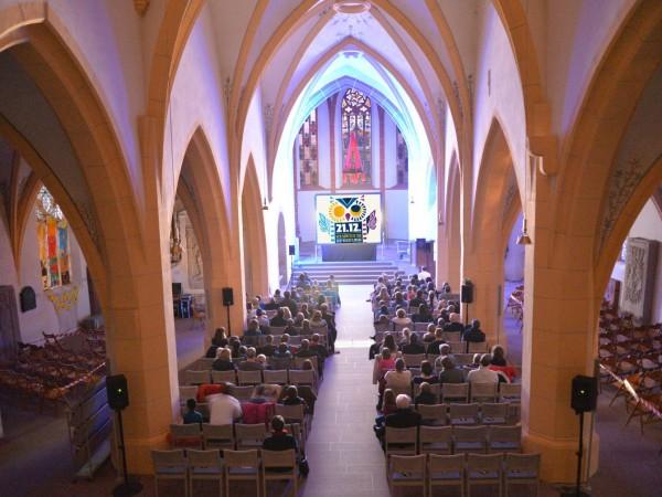 Weihnachtskino in der Burgkirche Ingelheim. KURZFILMTAG 2014.